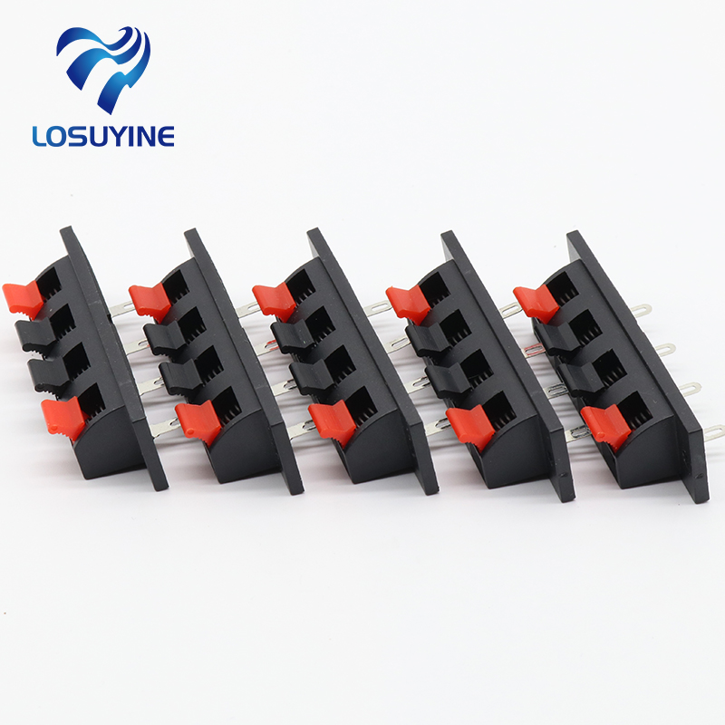 5 Pcs IMC Hot Single Row 4 Pin 4 Position Speaker Terminal Board Connectors 4pin tc03 10pcs 2edgk 5 08mm 508 terminal wire connectors 2edgk 5 08 4