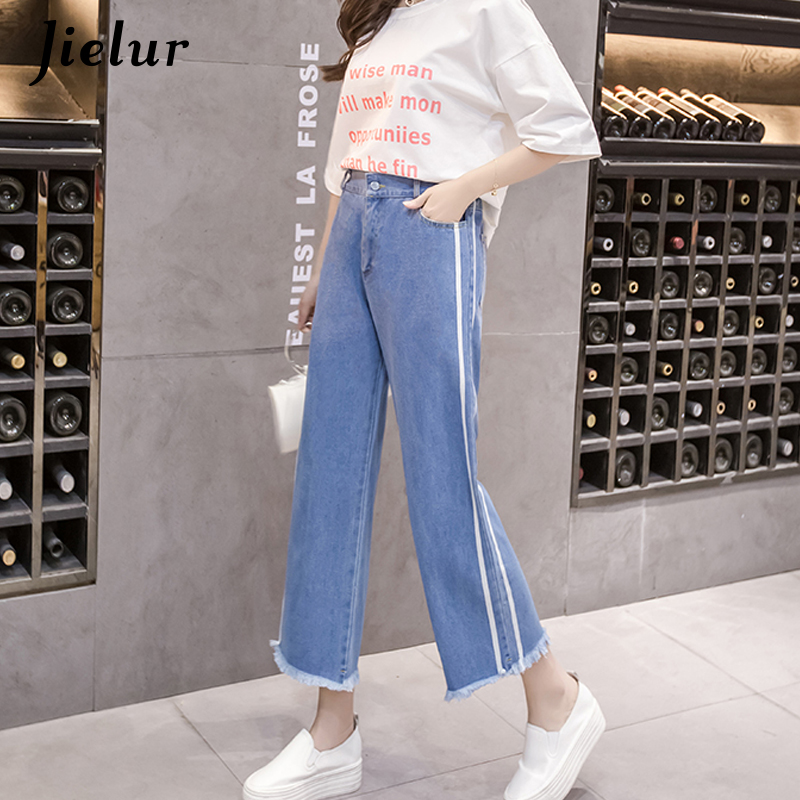 Más Alta Feminino Borla Jeans Para Azul Lateral Corea Boyfriend Las Cintura Nueva 5xl S Jielur Dropshipping Mujeres Faja Tamaño pvfwY