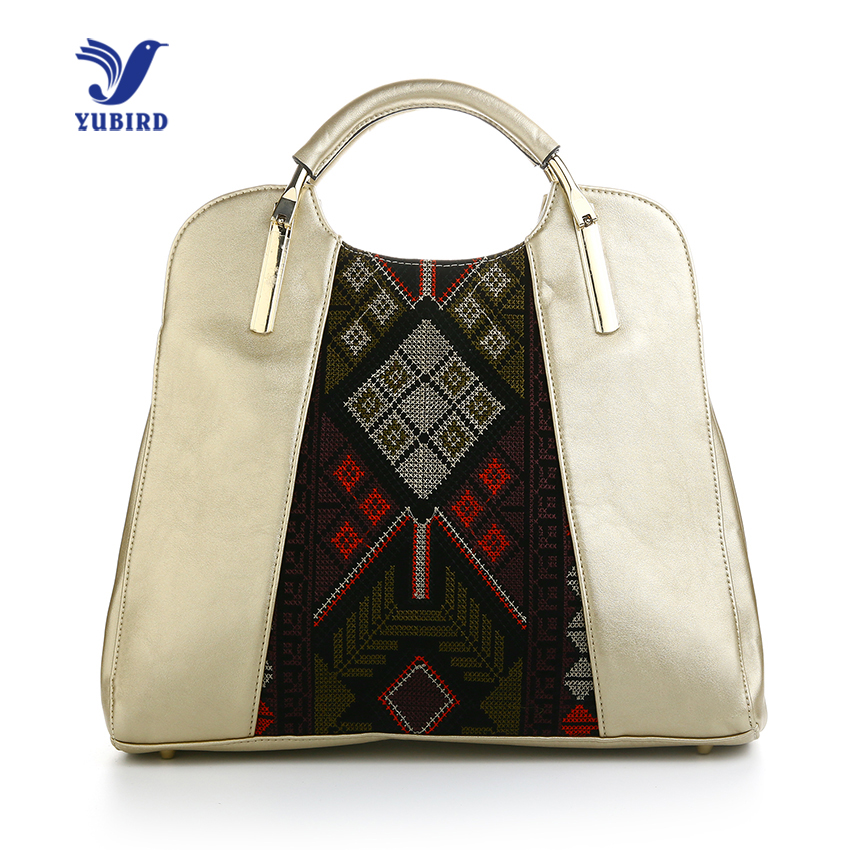 YUBIRD Fashion Top-Handle Bags Pu Leather Women Handbags Ladies Hand Bags Casual Bag 2017 High Quality chinese national style 2017 women bags casual bag top handle bag high quality soft pu zipper versatile one sequined belt