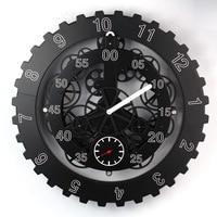 Free EMS/DHL Large Gears Mechanical Wall Clock Rotation Multi function Mechanical Gear Clock Creative Home Decorative Wall Clock