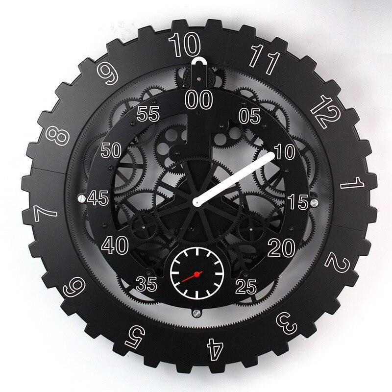 Trasporto libero di SME/DHL Grande Gears Meccanico Orologio Da Parete di Rotazione Multi-funzione macchina in funzione Meccanica Gear Clock Casa Creativo Decorativo Della Parete orologio