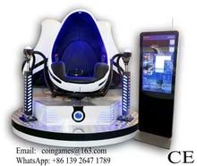 360 Degree Rotation Interactive Virtual Reality Equipment 3 Seats Egg 9D VR Cinema Movies Simulator Game Machine