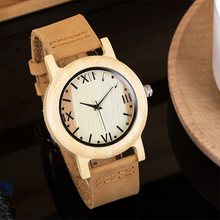 2017 Brand Women's Wooden Geneva Bracelets Watch With Wood Watches For Ladies Leather Quartz Casual Retro Wristwatch Feman Clock