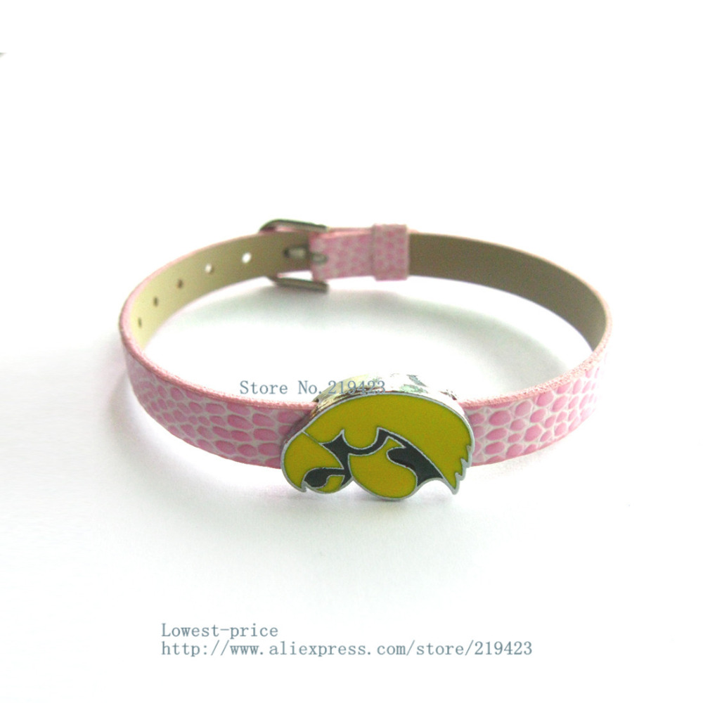 Wholesale price sport team SL369 Internal Dia.8mm slide Charms Jewelry Finding fit 8mm wristband pet collar key chain as gift
