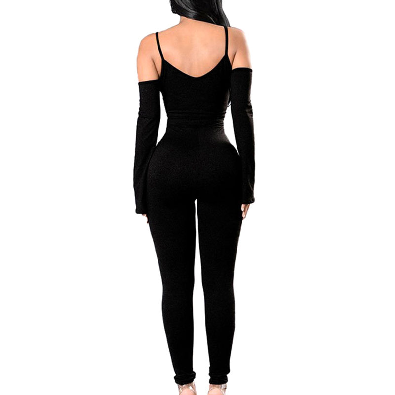 2018 Women Summer bodycon Bodysuit rompers womens party elegant jumpsuit Longsleeve one piece outfits playsuit Overalls