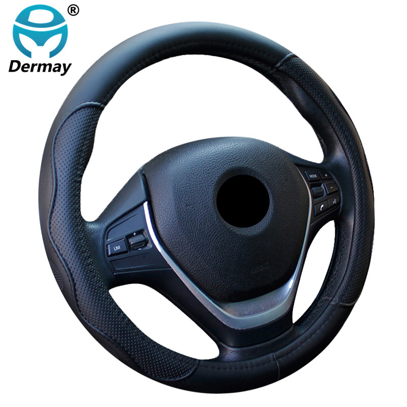DERMAY Auto Car Steering-wheel Cover High Steering Cover 9Colors Anti-slip For 38CM/15\