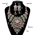 2017 New Fashion Wedding Jewelry Set Austrian Crystal Necklace Earrings Sets for Bridal Wedding Jewelry Sets  LF-G020