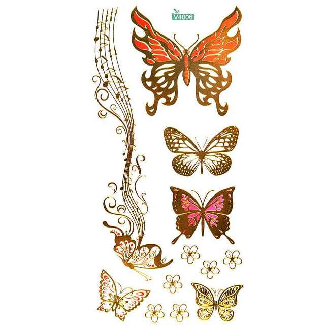 c4b79e6e4 creative design Tattoo Butterfly Music Notation pattern Temporary Tattoo  Sticker of body art tattoo,tatouage temporary