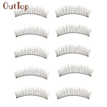 0a269c33ae1 OutTop Good 10 Pairs Long Thick Soft Handmade Fake False Eye Lash Makeup  Extensions