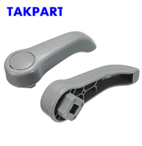 TAKPART 1Pair Car Seat Handles For Renault Clio MK2 Adjusting Lever Handle Pull Set New Black / Gray