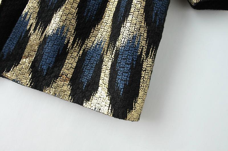 HTB1LgYoJFXXXXaUXFXXq6xXFXXXF - 2015 Autumn New The peacock printing Knitting Long Cardigan Ladies Sweater Women Coat Outwear Snake Pattern Bronzing Tops