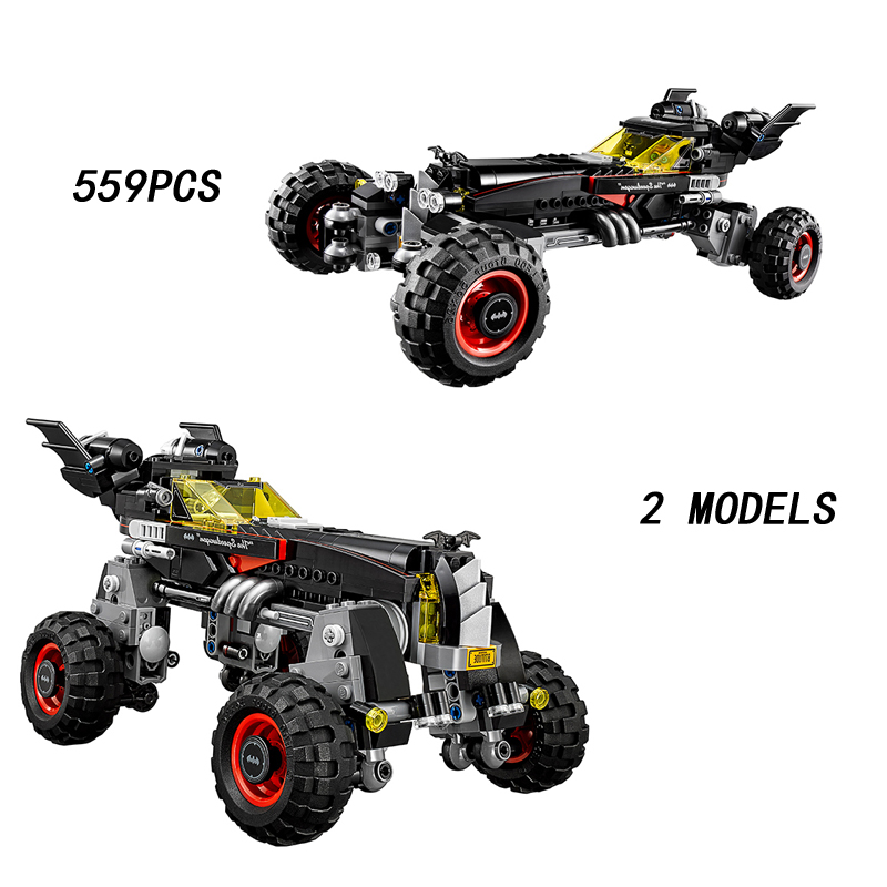 2017 Hot DC comics super heroes Batman movie The Batmobile building block model Man-Bat Robin figures bricks 70905 toys for kids