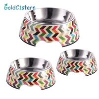 1 Pc Pet Feeding Bowl Non Slip Stainless Steel Dog Feeders Multiple Sizes Cat Food Water