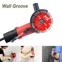 220V 1600W Wall Groove Cutting Machine Monolithic Wall Slotting Machine W/ Pump