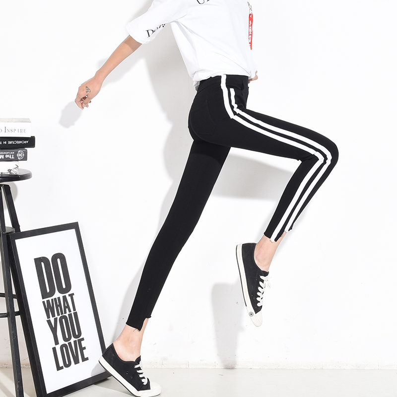 a094506dadf56 CTRLCITY 2018 Autumn New Women Pants Fashion Trend Checked Legging Skinny  Stripe Pants Womens Casual Trousers Pencil Pants