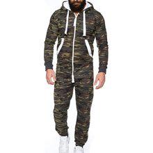 216f93fb19196 Centuryestar Tmall qualité hommes Camouflage pyjamas Onesie une pièce à  capuche Mono Pijama Hombre Combinaison Pyjama