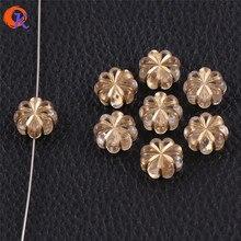 לבבי עיצוב 13x13mm 700 יח\חבילה (עיצוב כפי שמוצג) ברור עם עתיק אקריליק Wintersweet צורת חרוזים להכנת תכשיטים