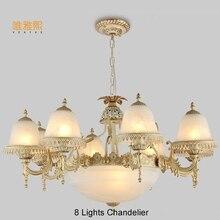 modern  glod chandeliers the lanterns christmas Fabric lampshade chandelier luxury indoor lighting fixture