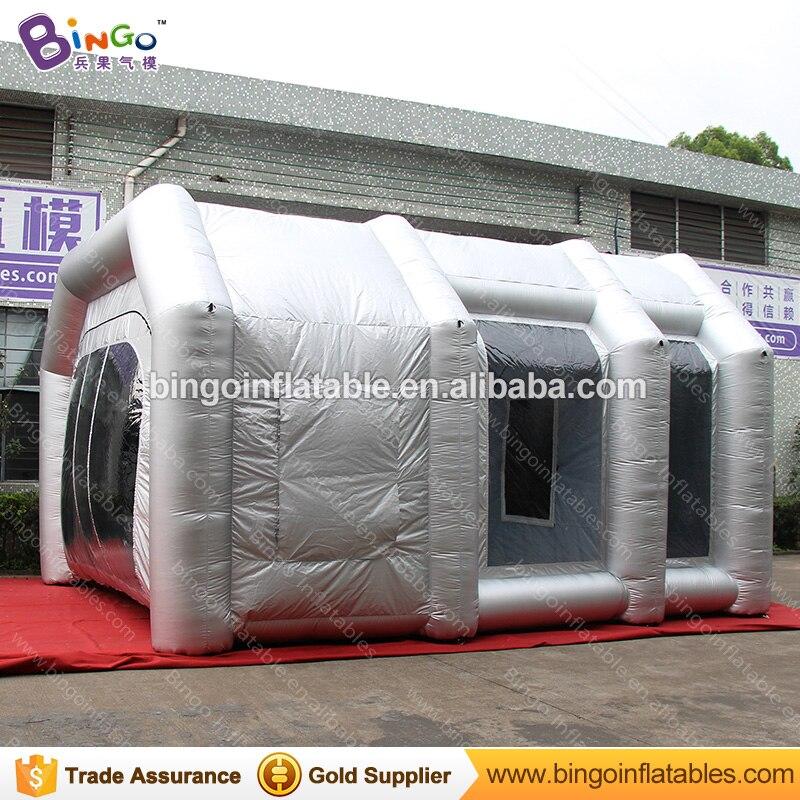 Cabine de pulvérisation de 6 m/19.7 pieds de long, cabine de pulvérisation gonflable, tentes gonflables de jouet de cabine de peinture en aérosol de véhicule