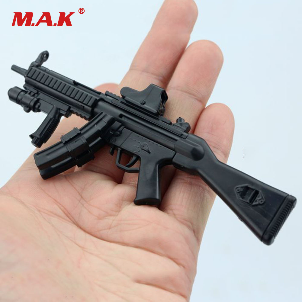 1//6 Soldier 4D Assembly Rifle Submachine Gun Model Double Cartridge MP5SD5