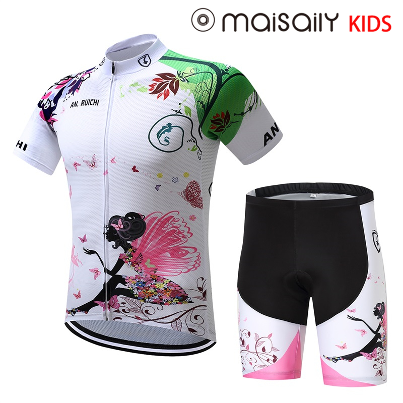 2018 Unisex Girls Pro Cycling Jersey Set Ropa Ciclismo Cycling Kit for Kids Breathable Quick Dry Bicycle Clothing Children Girls2018 Unisex Girls Pro Cycling Jersey Set Ropa Ciclismo Cycling Kit for Kids Breathable Quick Dry Bicycle Clothing Children Girls