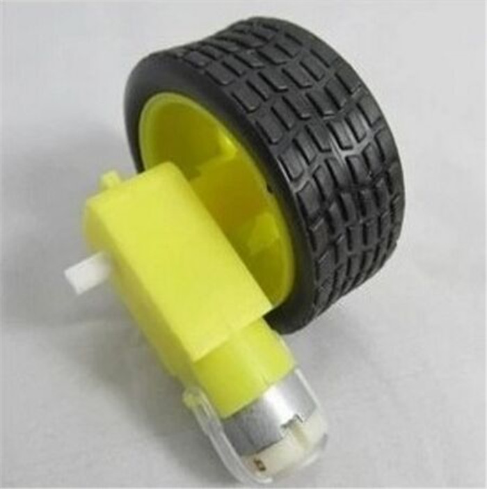 5pcs1set 1pcs Deceleration DC motor 1pcs supporting wheels smart car chassis motor robot car wheels for