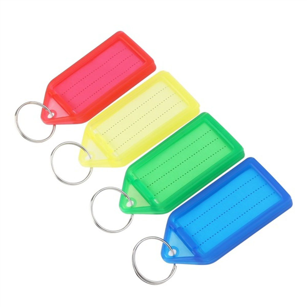 Plastic Luggage ID Tags Label ID Key Tags With Split Ring Travel ID Identifier Name Card Label Travel Accessories Color Random