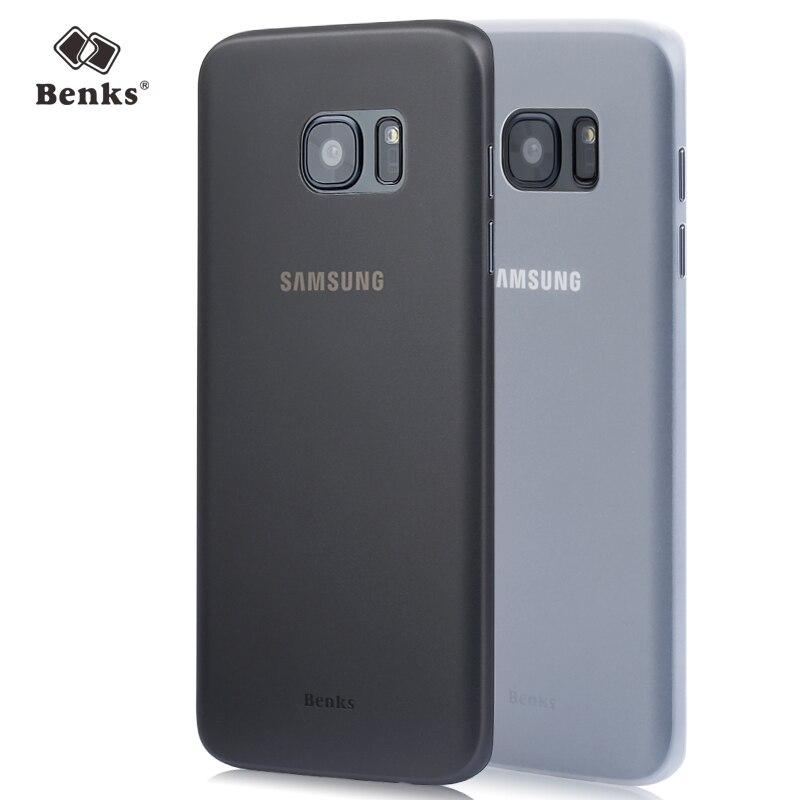 Бэнкс Ультра Тонкий ПРОЗРАЧНЫЙ Чехол для Samsung Galaxy S7 edge Мобильный телефон Магия Задняя Крышка Случаях для S7edge Shell Протектор Черный Белый