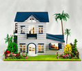 13015 Holiday homes 3d handmade diy dolls house miniature miniatura wooden dollhouse