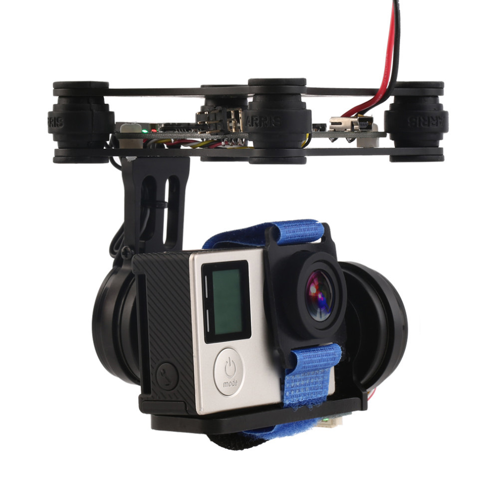 RTF 2 Axis Brushless Gimbal Camera With 2208 Motors BGC Controller Board Support SJ4000 Gopro 3 4 Camera For Rc Drone
