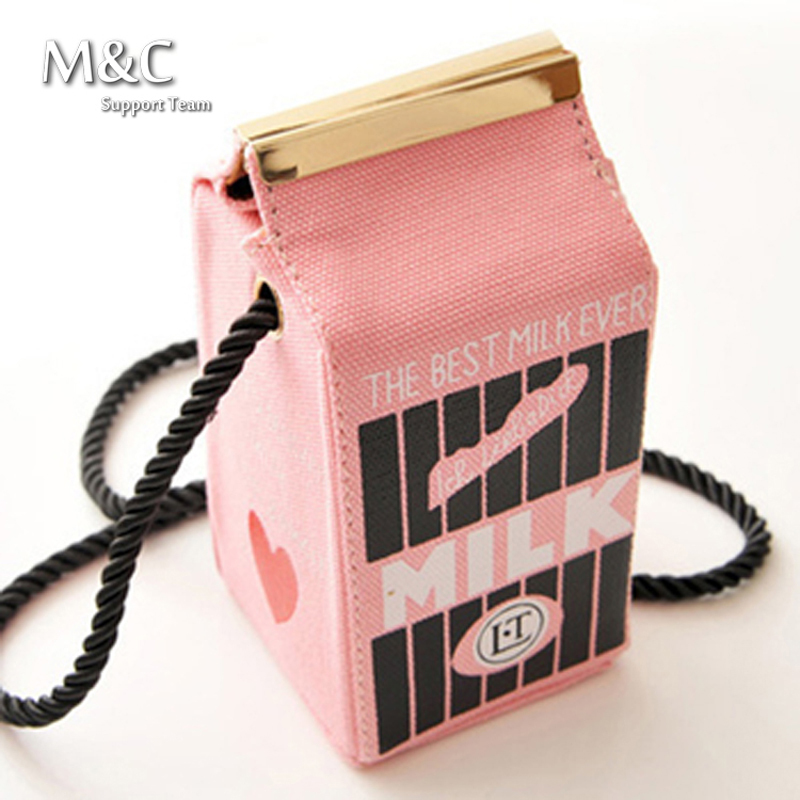 Hot Sale 2016 Cute Milk Box Shoulder Bags Lovely mini Small Bags ...