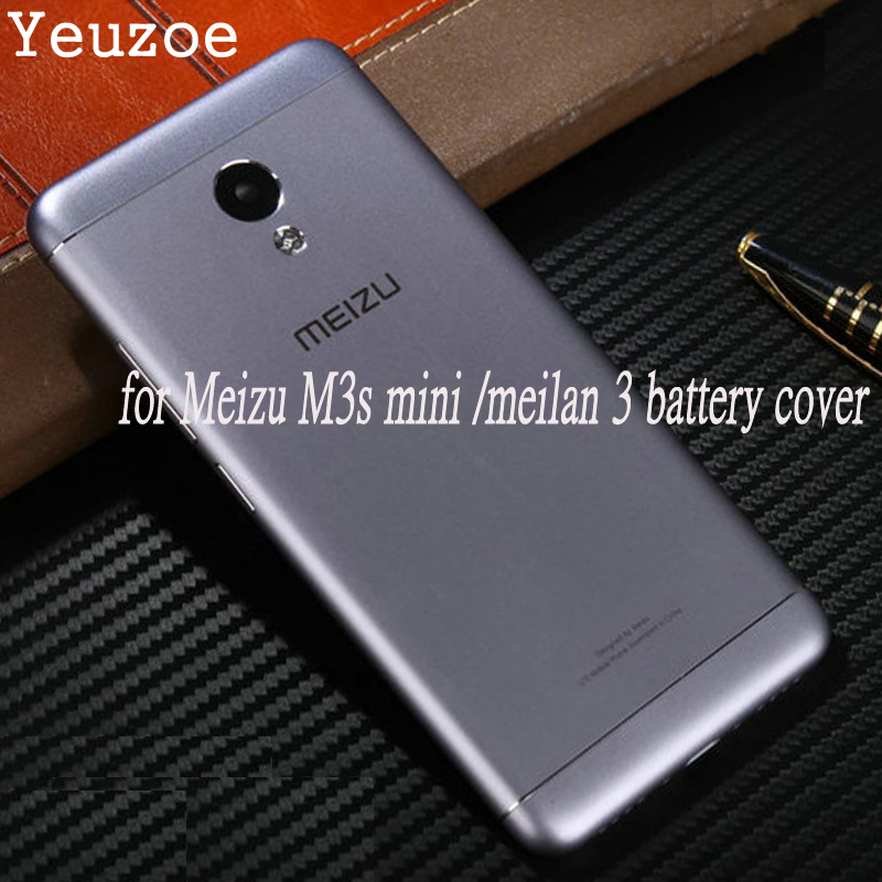 Official Back <font><b>Battery</b></font> Cover For <font><b>Meizu</b></font> <font><b>M3s</b></font> <font><b>mini</b></font> Original Metal Phone Case for Meilan 3s Y685C Y685Q Y685M Y685H Replacement Parts image
