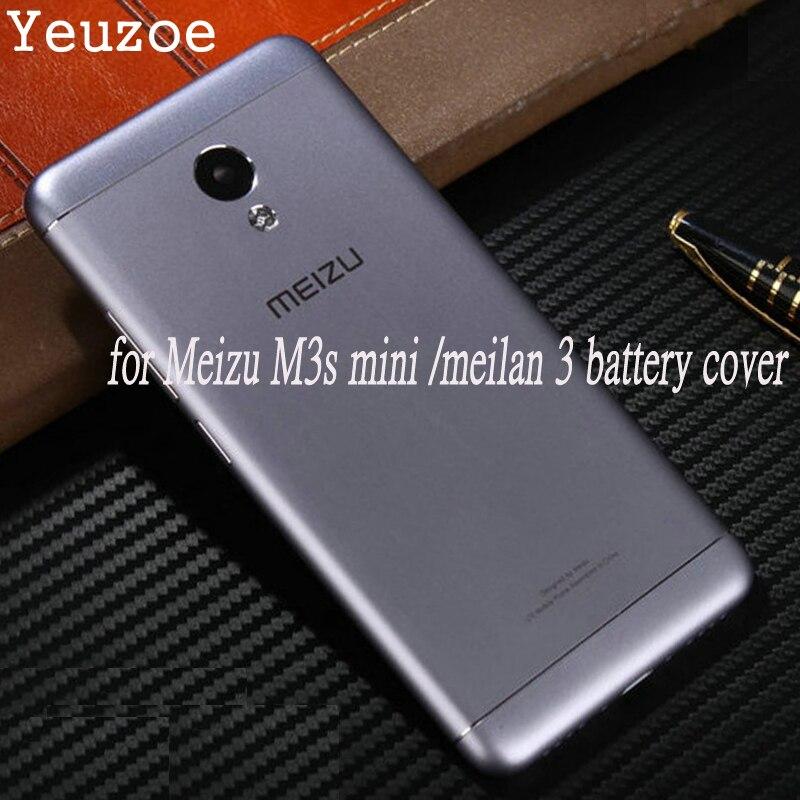Ufficiale Copertura Posteriore Della Batteria Per Meizu M3 mini Originale Cassa Del Telefono Del Metallo per Meilan 3 s Meilan3s Parti di Ricambio 5.0