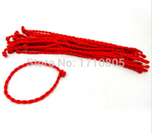 Hot Wholesale Fashion Jewelry 50pcs Braided Lucky Red String Charm For Woman Good Luck Bracelets&Bangle Free Shipping B531