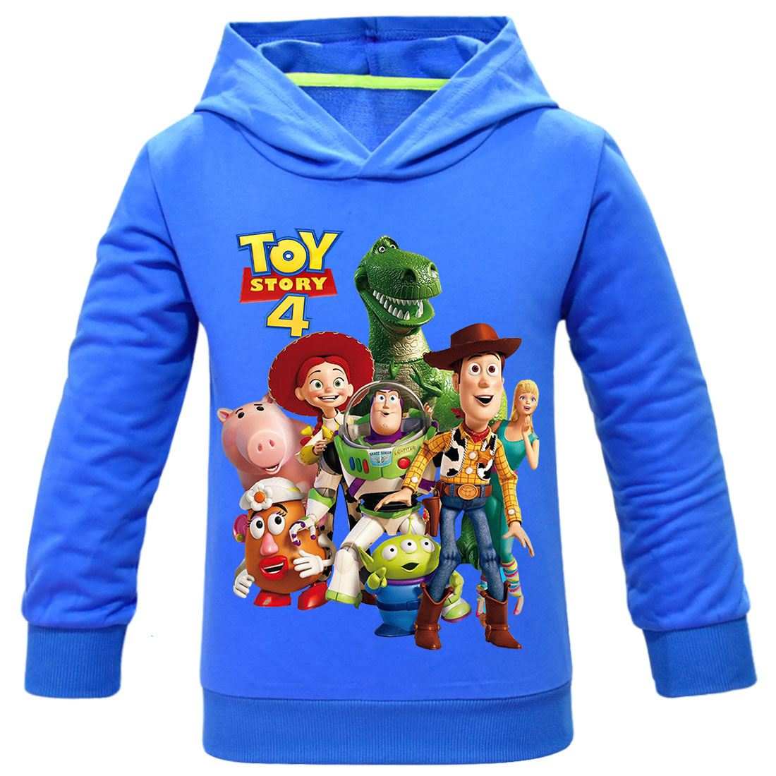 3-11T Pure Cotton Toy Story 4 Forky Alien Woody Hoodies Sweatshirt Children Kid Cartoon Tshirts Pullover Tops Boys Girls Clothes(China)
