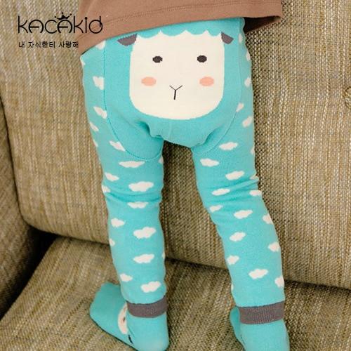 Kid's Cotton Skinny Pants with Cartoon Pattern 4