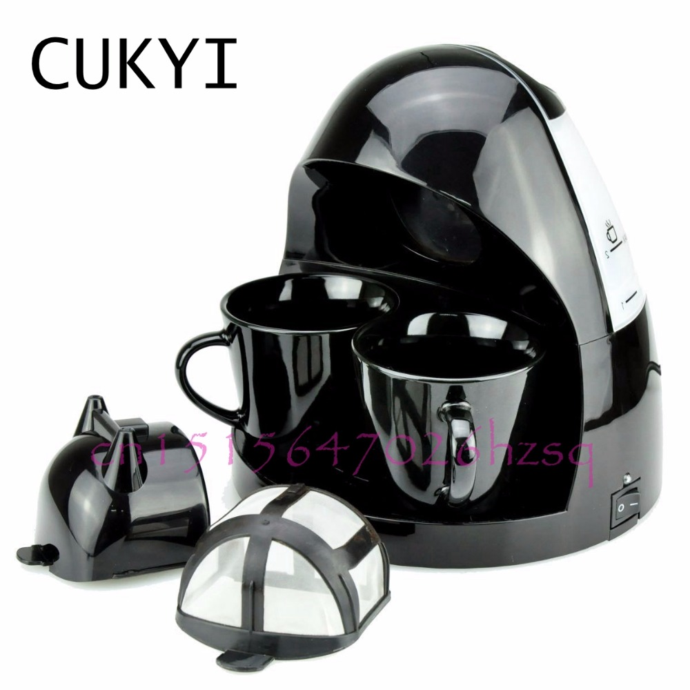 CUKYI American coffee machine Tea Boiler Automatic Insulation Drip Type 2 Persons Portable Washable High Quality Ceramic Cup cukyi electric automatic hourglass coffee maker drip cafe american coffee machine white