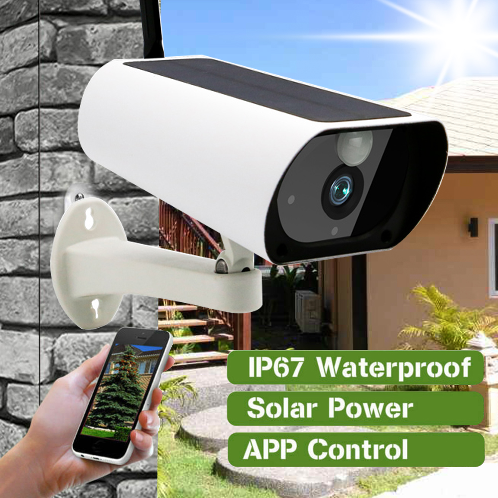1080P Solar IP Camera 2MP Wireless Wi-fi Security Surveillance Waterproof Outdoor IR Night Vision Solar Power With Battery