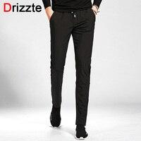 Drizzte Mens Stretch Pants Casual Pants Fashion Trendy Trousers Black Blue Green Size 28 29 30