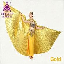 ホット販売翼ベリーダンス角エジプトエジプトのベリーダンス衣装着用(無スティック) 11色卸売