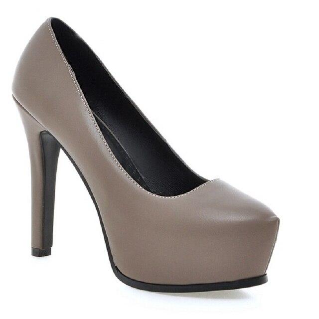 2016 Sexy 12 cm salto alto plataforma mulheres bombas nova moda sapatos de festa de casamento preto bottoms plus size 34-43 zapatos mujer