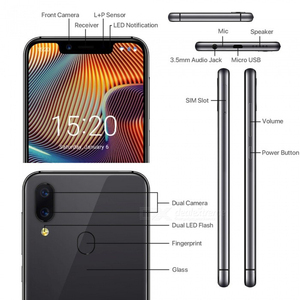 Image 4 - UMIDIGI A3 Pro Globale Della Fascia 5.7 FullScreen Smartphone 3GB+32GB Quad Core Android 8.1 12MP+5MP Unlock Mobile phone