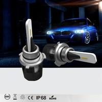Автомобиль светодио дный свет фар SMD H1 H11 H4 H3 H7 луч 9005 6000 К 60 Вт 8400LM лампы Conversion Kit 12 В 24 В для всех автомобилей Грузовик