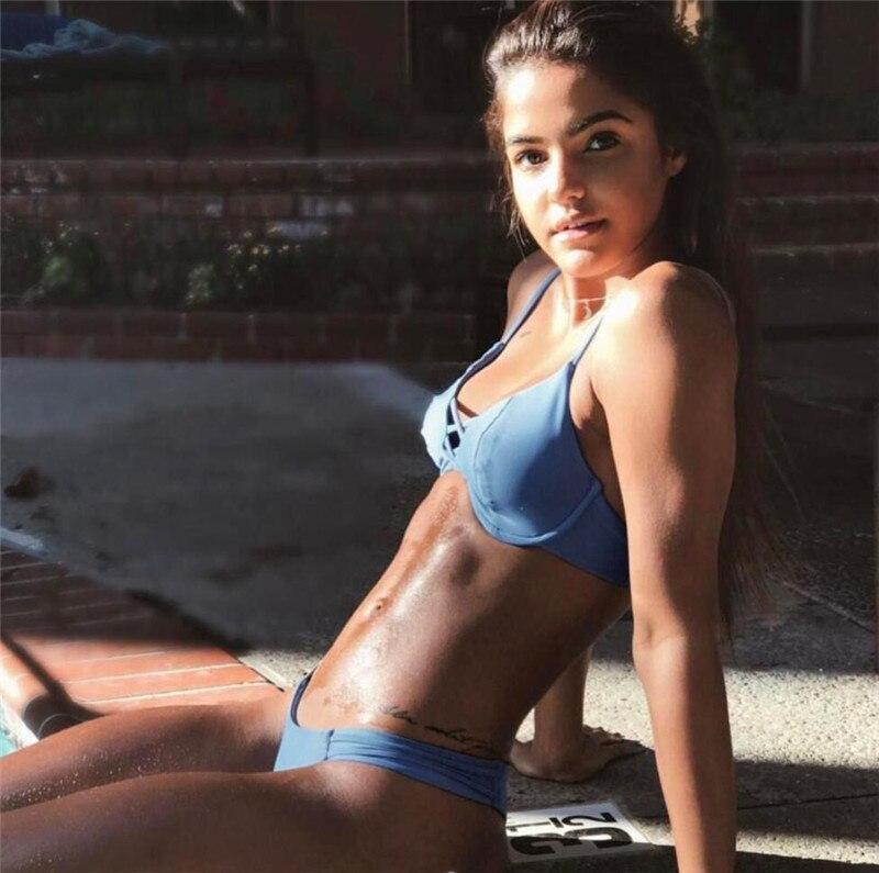Bikini New Doubledeck flouncing Swimsuit bathing suit sexy women Low waist swiming suits Swimwear Y108