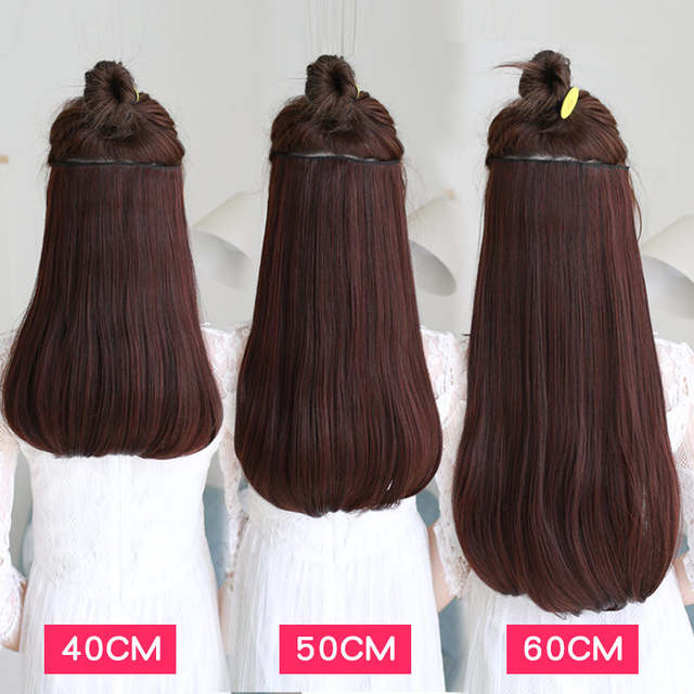 placeholder SHANGKE 24   180g Clip In Hair Extension Natural Fake Hair  Pieces Heat Resistant Synthetic 0b37eaafb2ce