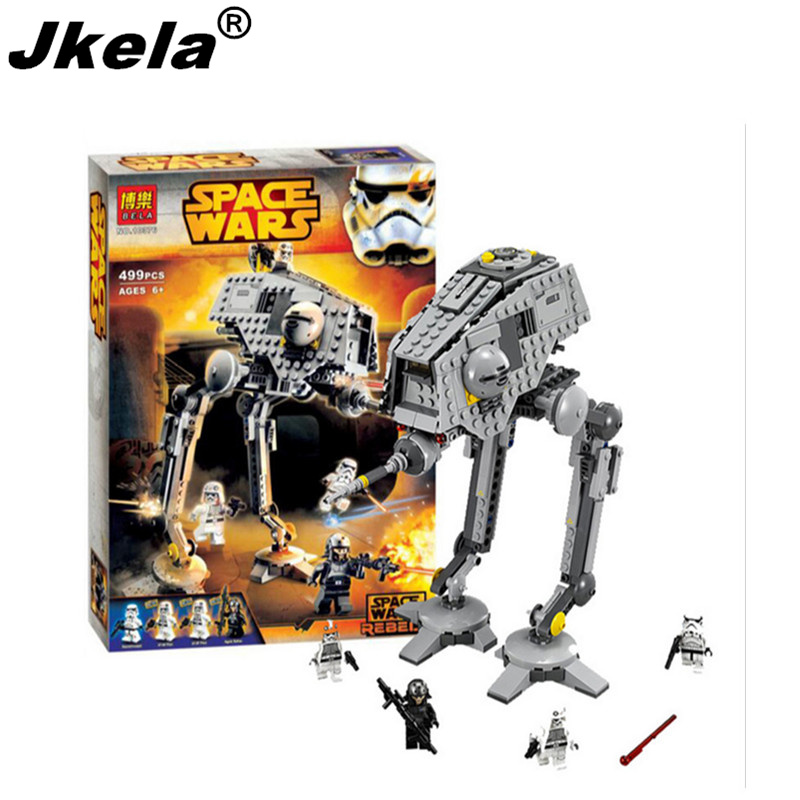 [Jkela]499pcs New Star Wars AT-DP Building Blocks Toys Gift Rebels Animated TV Series Compatible With Legoingly Starwars сковороды rondell сковорода rondell rda 560