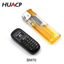 HAUCP BM70 Mini Phone bluetooth handset phone Unlocked Mini Mobile Phone Bluetooth Earphone Dialer SIM Card BM10 GTStar L8Star(China)