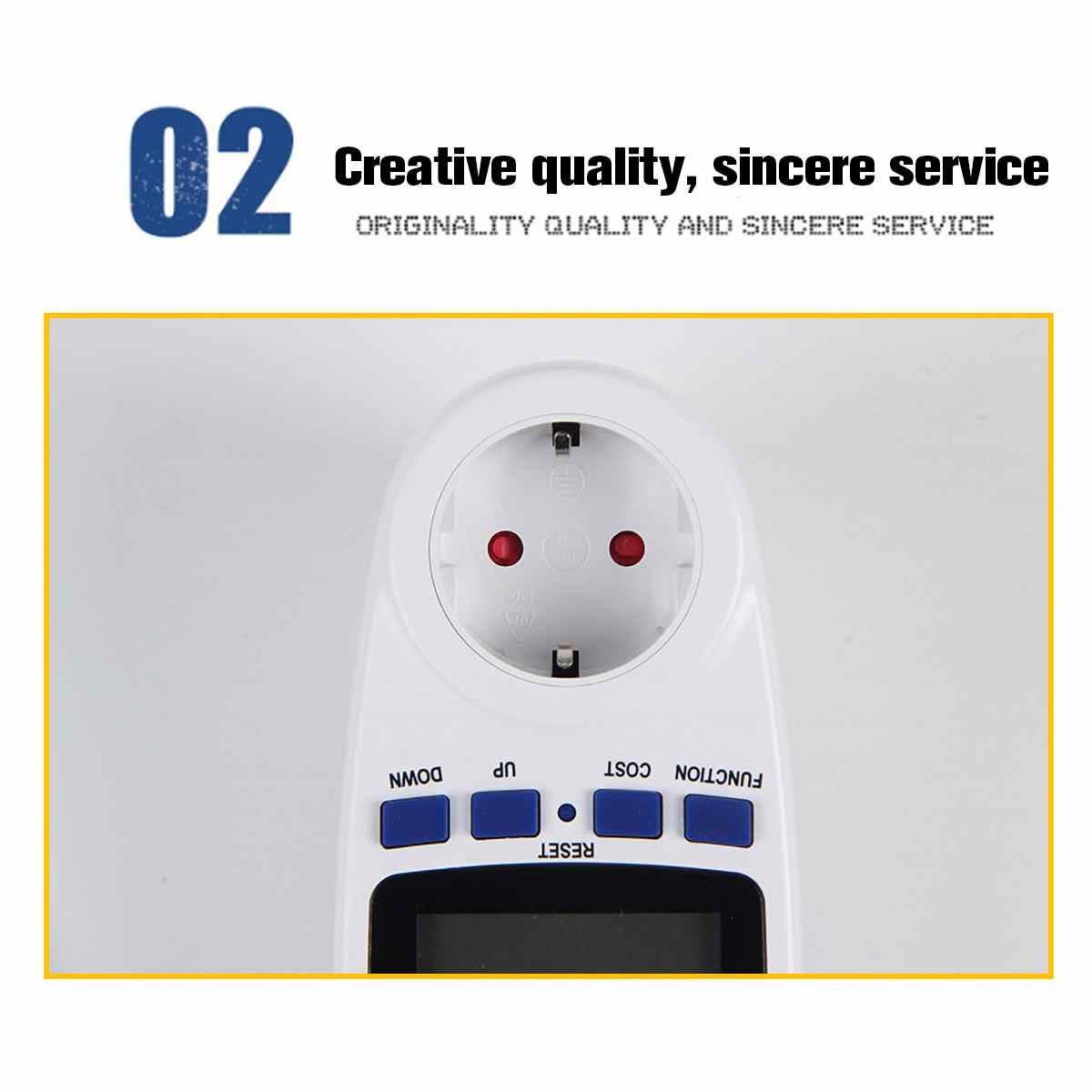 Ue US UK gniazdo wtykowe cyfrowy watomierz pobór mocy watowy licznik energii KWh AC 240V 120V analizator energii elektrycznej Monitor