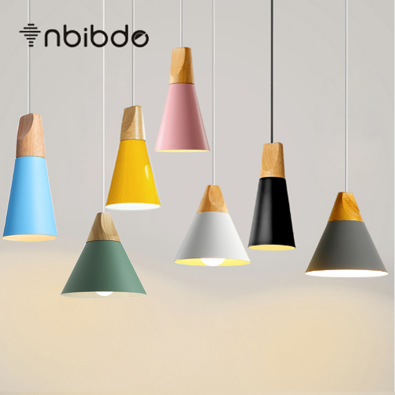 Wood pendant lights lamparas colorful aluminum lamp shade luminaire wood pendant lights lamparas colorful aluminum lamp shade luminaire dining room lights pendant lamp for home aloadofball Choice Image