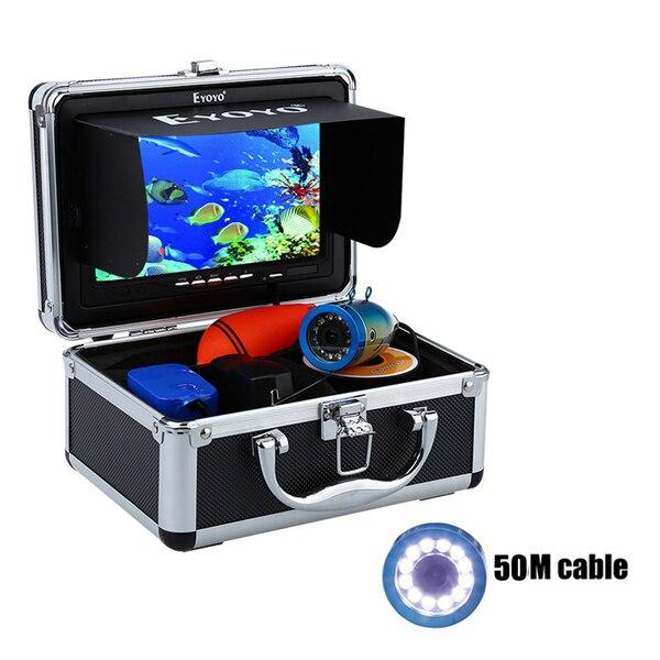 """Eyoyo 30м 1000TVL камера рыбоискатель подводная рыбалка видеокамера """" монитор солнцезащитный козырек инфракрасный светодиод - Цвет: 50M White LED"""